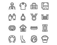 Equestrian Icon Set 02