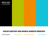 NSCAD Website Redesign
