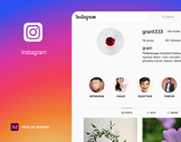 Instagram Web Page Mockup Free