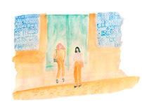 Viajes y gente maja   Acuarela