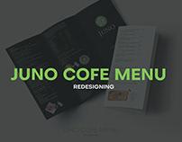 JUNO COFE MENU - REDESIGNING