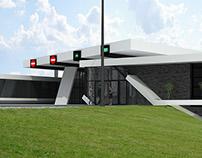 LAGODEKHI, GEORGIA. Border Checkpoint