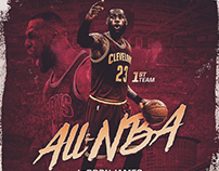 2016-17 Cleveland Cavaliers Player Achievement Graphics