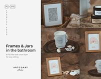 Frames & Jars Mockup in the Bathroom