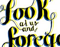 Hiroshima Survivors Quote Typography