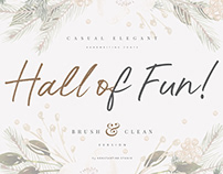 Hall Of Fun - Casual Elegant Font