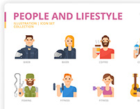 People and Lifestyle icon set