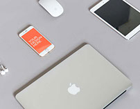 iPhone with Apple Devices - Free PSD