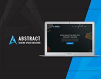 Website Layout Design || One Page Website