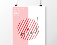 Phizz dj // poster and cover