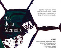 Affiche Exposition Art/Memoire