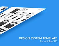ADOBE XD Design System Template