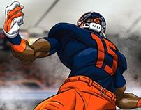 "Syracuse Football ""animated"" sports art"