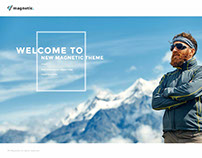 Magnetic WordPress theme Example for travel agency