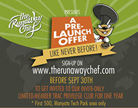 Various Design work for The Runaway Chef