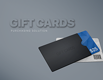 Gift Cards Purchasing Solution
