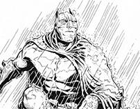 Study of Rain, Stone and Batman