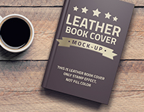 LEATHER BOOK COVER MOCK-UP