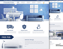 Perabotan | Free Website Template (PSD)