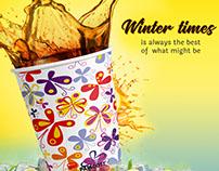 Paricott Paper Cups   Creative Ads   Social Media Post
