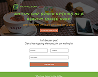 The Whole Bean // Landing Page Design for Launch Event