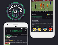 Kelderklasse, Sunday League Football, UX/UI & Branding