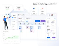 Social Media Management Tool | UI/UX Design