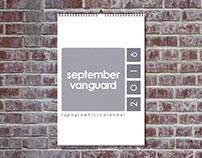 Experimental Type Calendar - 2016