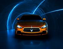 Maserati CGI - Light Trails