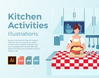 Kitchen Activities Illustration Set