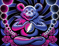 Dead & Company Bear T-shirt illustration