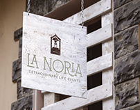 La Noria Event Center Logo and Business Card Design