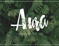 Aura - handmade font duo!