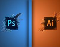 Trabalhos Feitos com Photoshop e Illustrator.