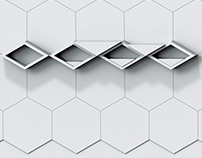 Rhombic shelf in hexagonal structure