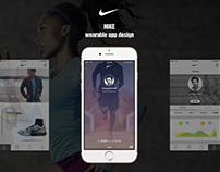 Nike wearable app design