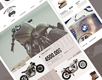 Concept for vintage motorcycle ecommerce site