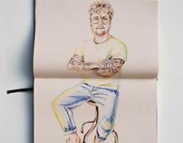 P E N C I L / Soft pastel pencil figurative sketch