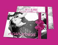 Convite 15 Anos | Ana Karolina Braga