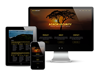 Custom Responsive Website: Acacia Security