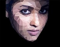 Nayanthara - Low Poly Art