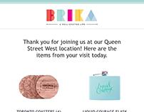 Brika Email Template Design