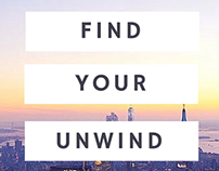 Find your unwind - holiday copy concept
