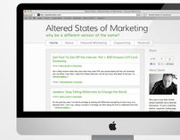 Altered States of Marketing Wordpress Blog Design
