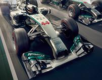 MERC F1 UAE NATIONAL DAY CAMPAIGN KV- RETOUCHING