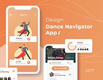 Dance Navigator - ios app Design