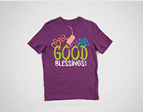 Logo y camiseta Good Blessings