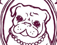 Pug Princess T-shirt design