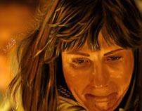 sad Digital Painting Portrait