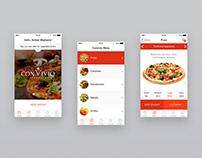 Convivio pizzeria app design (2014)